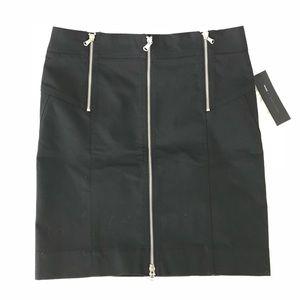 Marc by Marc Jacobs Black Denim Zipper Skirt
